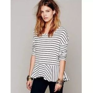 WE THE FREE Black and White Stripe Thermal